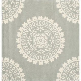 Safavieh Handmade Bella Grey Ivory Wool Rug 5 Square