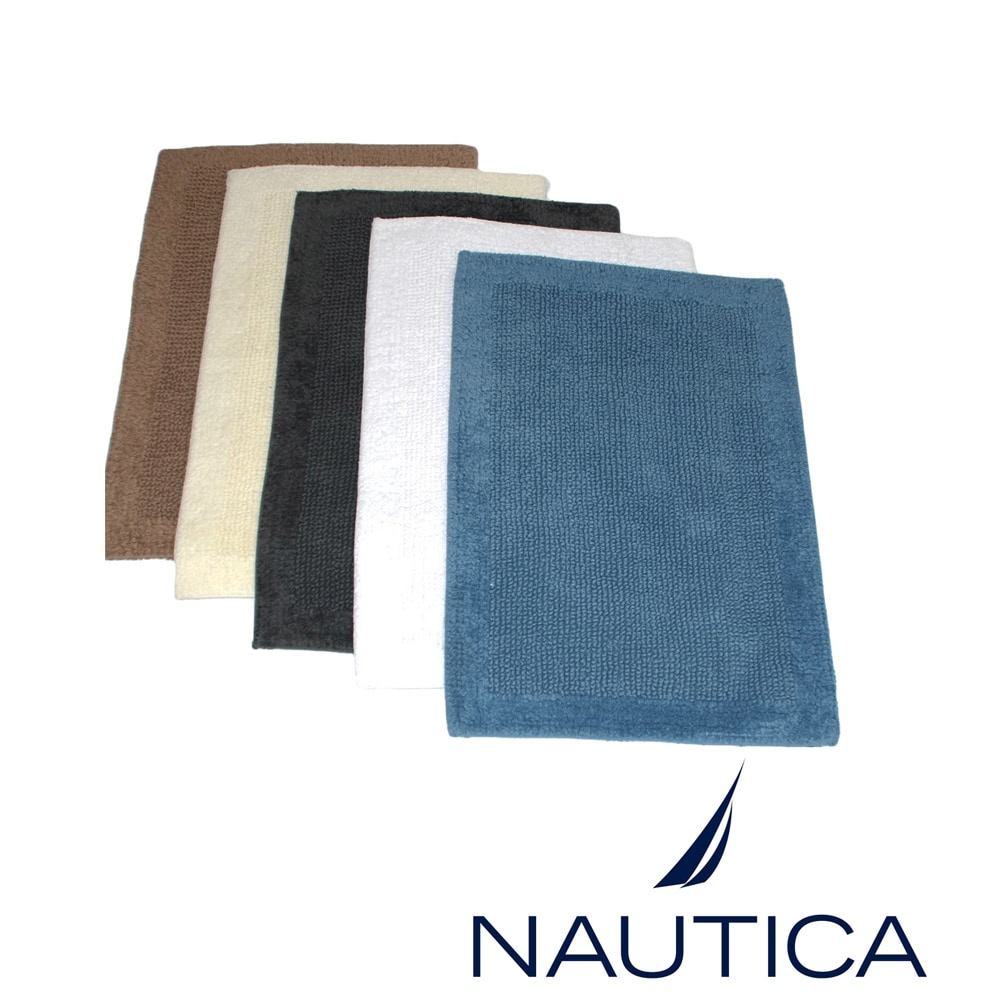 Nautica Reversible Cotton 2 Piece Bath Rug Set