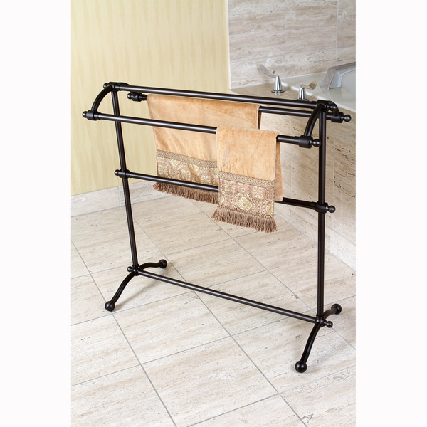 Oil Rubbed Bronze Pedestal Towel Rack 15698919