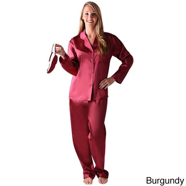 Del Rossa Women s Classic Satin Pajama Set Alexander Del Rossa Pajamas    Robes 4679654d5