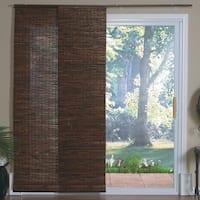 Lewis Hyman Java Mahogany Bamboo Panel Sliding Window Shade