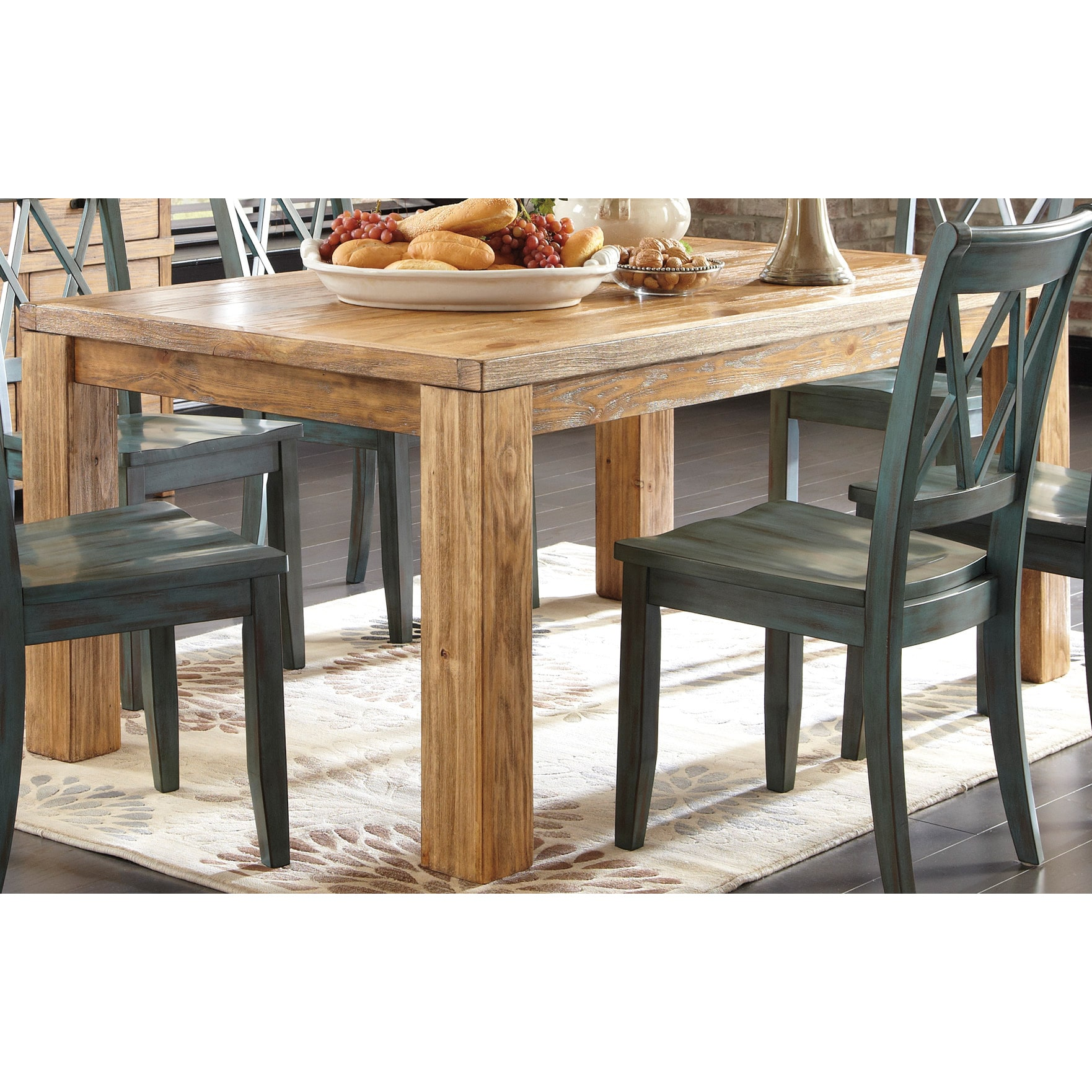 overstock dining room tables | Signature Design by Ashley 'Mestler' Rectangular Dining ...