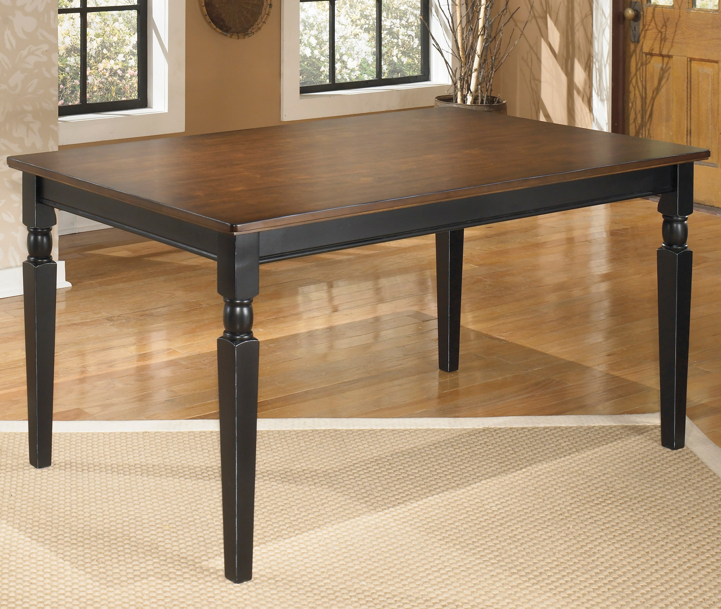 Overstock Dining Room Tables: Signature Design By Ashley Owingsville Rectangular Black
