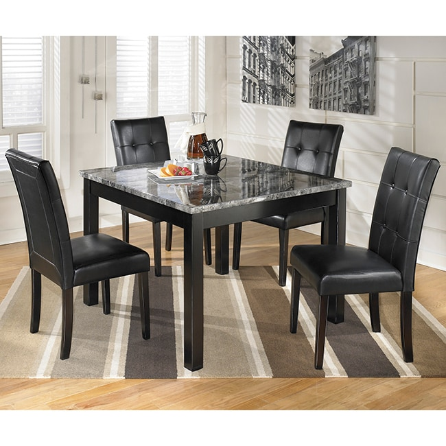 Black And White Dining Room Set: Signature Design By Ashley 'Maysville' Black/ Grey Square