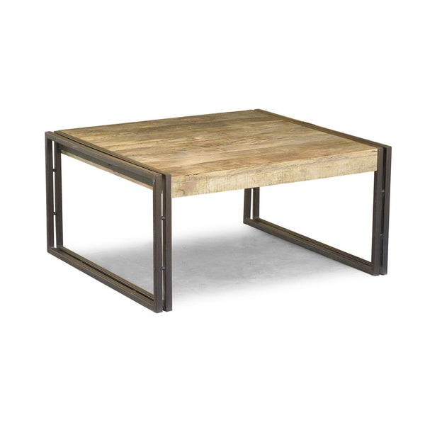 Handcrafted Reclaimed Wood Coffee Table (India