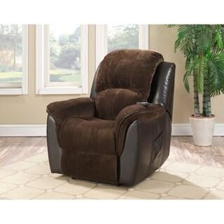 Relaxzen Brown Leather Massage Recliner 8 Motors