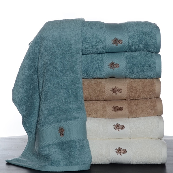 Tommy Bahama Bathroom Towels: Tommy Bahama Embroidered Pineapple 6-piece Towel Set