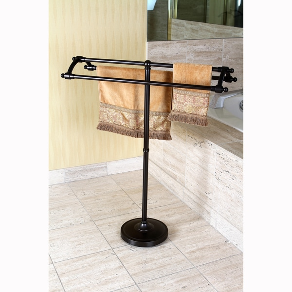Oil Rubbed Bronze Pedestal Bath Towel Rack 15727450
