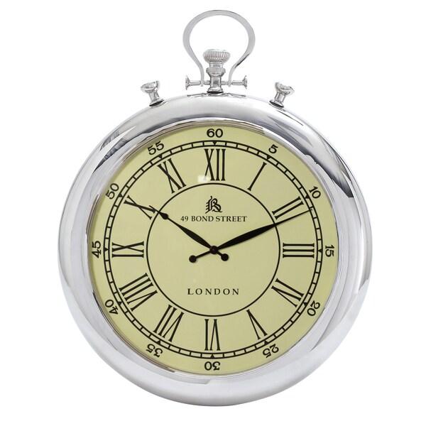 49 Bond Street Classic 31 Inch Metal Wall Clock 15727908