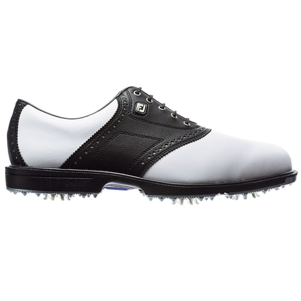 White And Black Saddle Golf Shoes