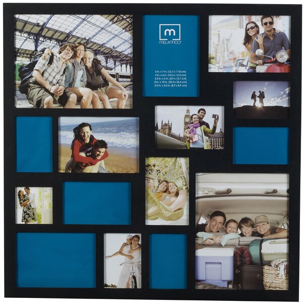 Melannco Black 24 X 24 Inch 15 Opening Collage Frame