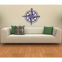Nautical Compass Vinyl Wall Decal