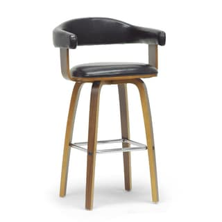 Cecina Mid Century Modern Wood Barstool 16554326 Overstock Com Shopping Great Deals On Lumisource Bar Stools