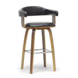 Cecina Mid Century Modern Wood Barstool 16554326
