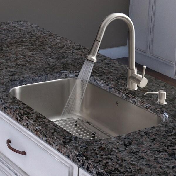 Kitchen Sink Set: Vigo All-in-one 30-inch Undermount Stainless Steel Kitchen