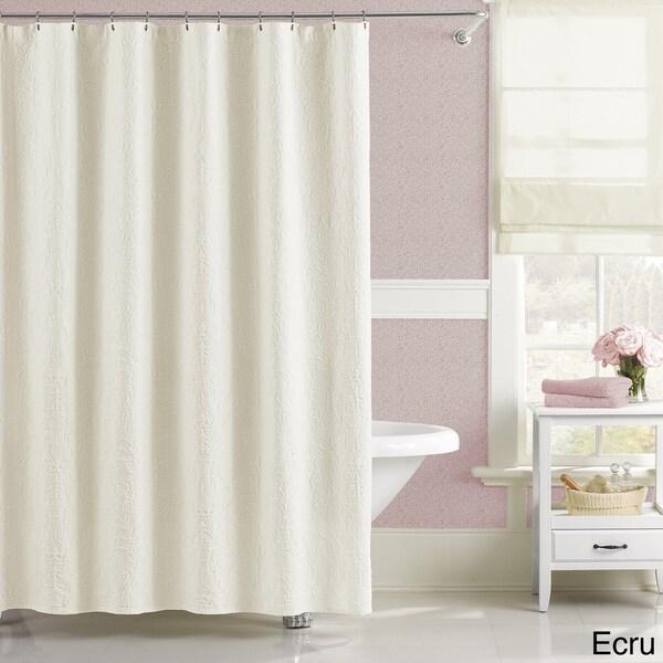 Luxury Floral Matelasse Majestic Shower Curtain 15743814
