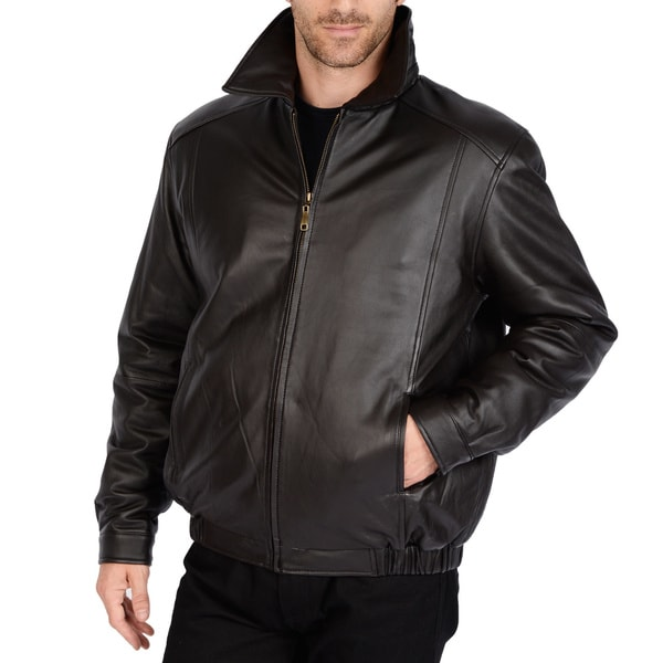 Excelled Men S Big And Tall Lamb Leather Bomber Jacket