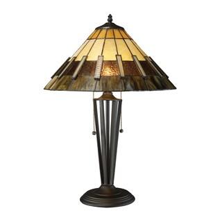 Blue Wisteria Tiffany Style Lamp W Tree Trunk Base