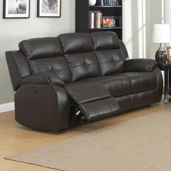 Troy Dual Power Reclining Sofa 15767589 Overstock Com