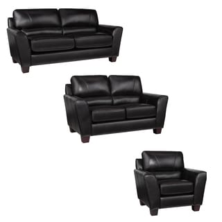 Awesome Cheap Excalibur Espresso Italian Leather Sofa Loveseat And Caraccident5 Cool Chair Designs And Ideas Caraccident5Info