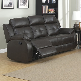 Coney Coffee Leather Reclining Sofa Loveseat And