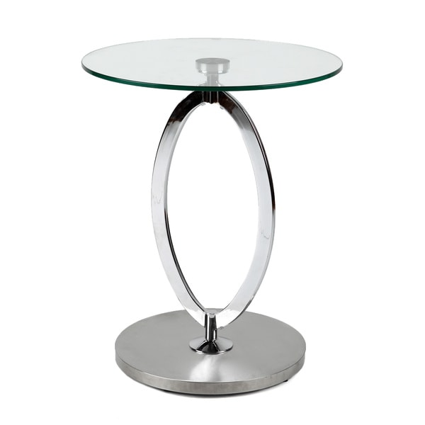 Round Coffee Table Chrome Finish: Round Chrome/Glass Side Table