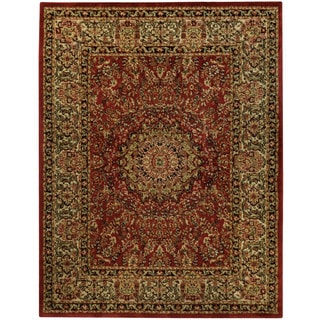 Pasha Collection Medallion Traditional Red Area Rug 5 3 X