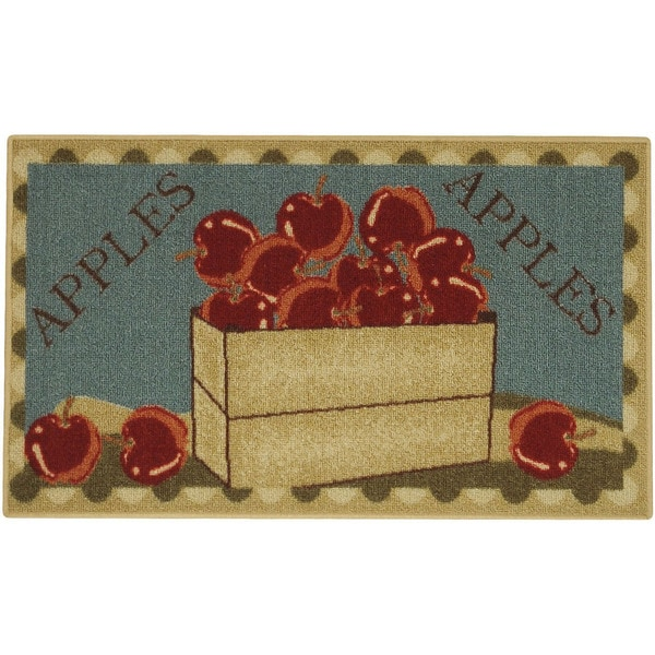 Apple Basket Red Green Non Skid 18 Quot X 30 Quot Kitchen Mat