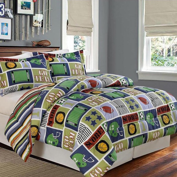 Go Bed And Bath: Reversible Go Team Comforter