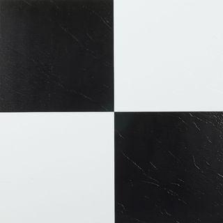 Nexus Black And White 12 X 12 Inch Self Adhesive Vinyl