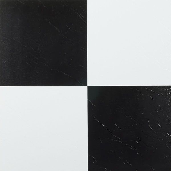 Black And White Adhesive Floor Tiles