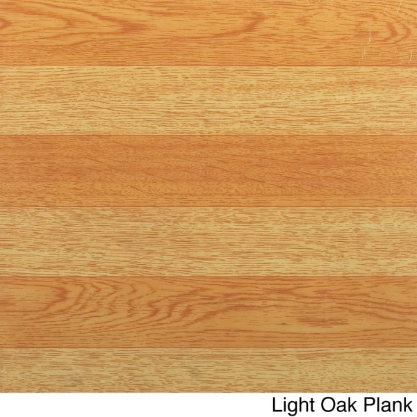 Light Oak Plank Wood Self Stick Adhesive Vinyl Floor Tiles: Nexus Wood-Look 12x12 Self Adhesive Vinyl Floor Tile