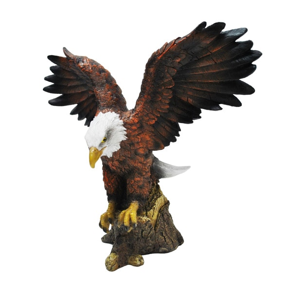 Resin Stone Bald Eagle Statue 15774842 Overstock Com Shopping Great Deals On Garden Accents