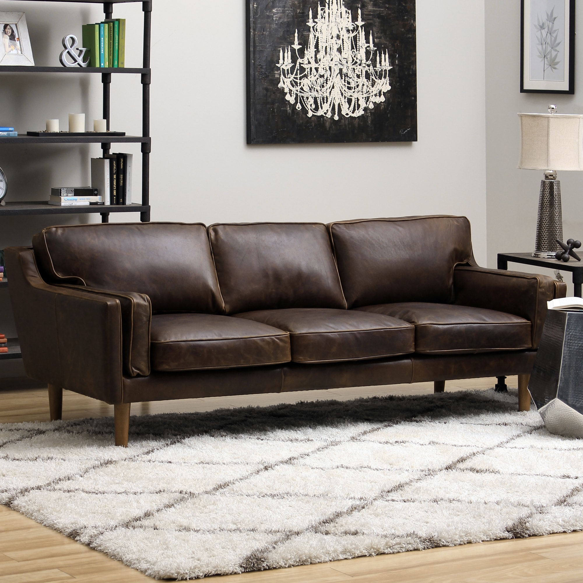 1cheap beatnik leather sofa columbus chocolate cheap living room furniture 2015. Black Bedroom Furniture Sets. Home Design Ideas