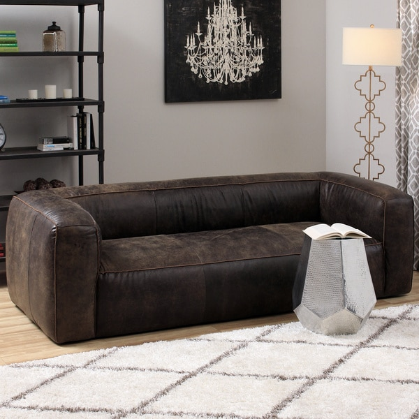Diva Outback Bridle Dark Brown Leather Sofa 15780994