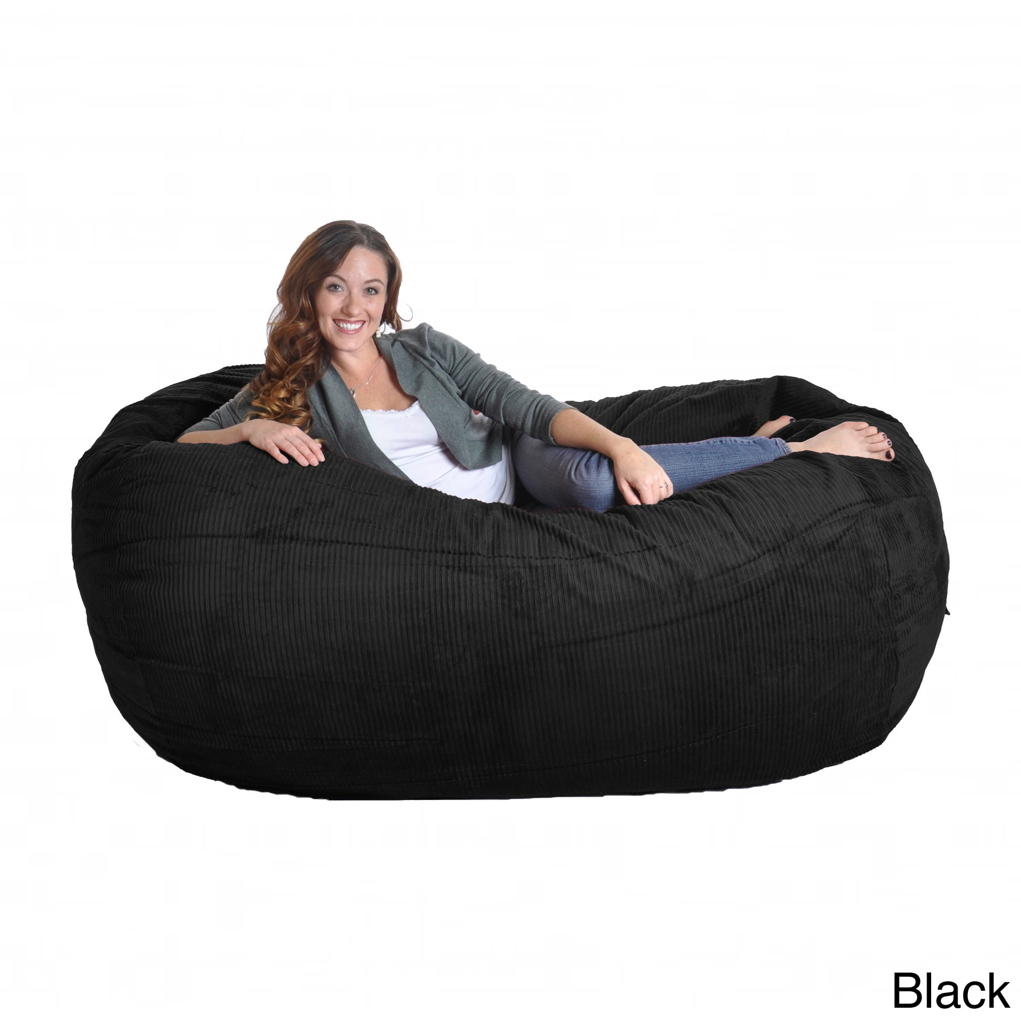 Marvelous Corduroy Oval Large Microfiber Suede And Foam Bean Bag Chair Gmtry Best Dining Table And Chair Ideas Images Gmtryco