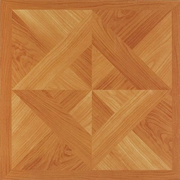 12x12 Light Oak Diamond Parquet Self Adhesive Vinyl Floor