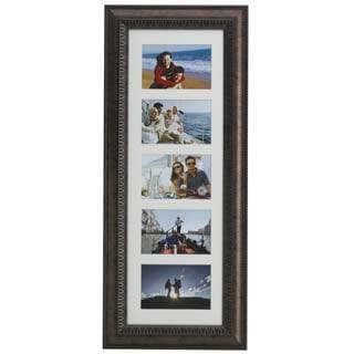 Melannco Bronze 5 Opening Matted Collage Frame