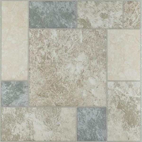 Nexus Marble Blocks 12x12 Self Adhesive Vinyl Floor Tile