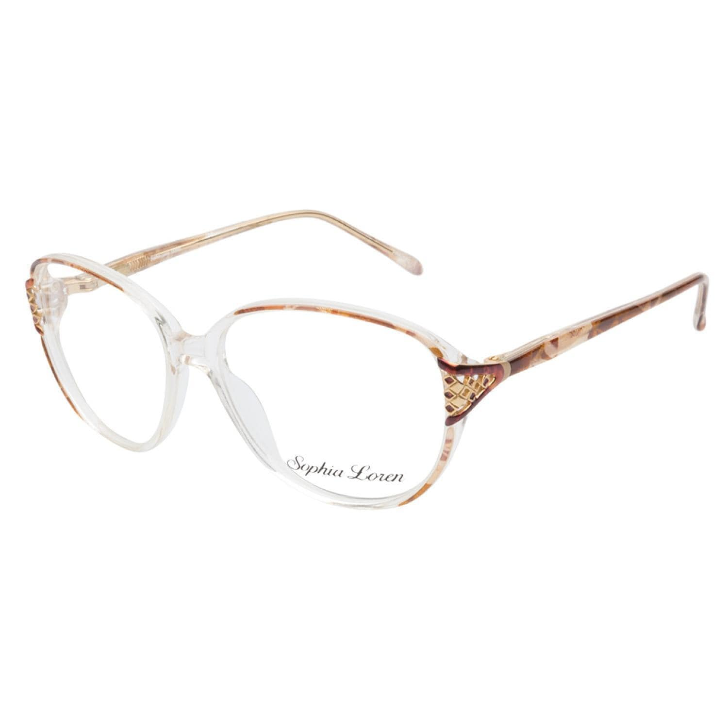 Sophia Loren 1509 183 Brown Prescription Eyeglasses