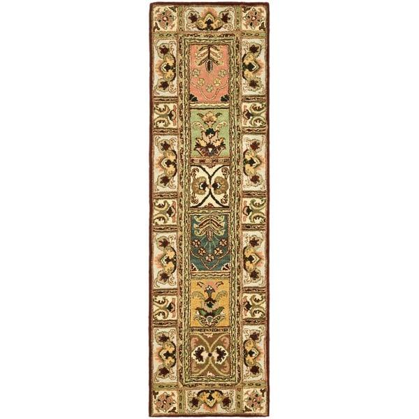 Safavieh Handmade Classic Bakhtieri Multicolored Wool Rug - 2'3 x 8