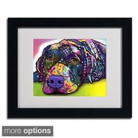 Dean Russo 'Savvy Labrador' Framed Matted Art