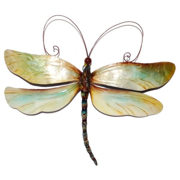 Metal And Capiz Dragonfly Wall Decor , Handmade In Philippines