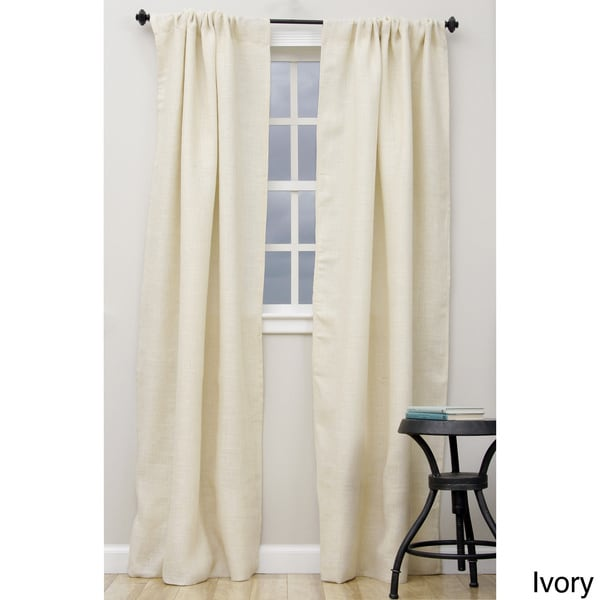 Open Weave Lined Burlap 96 Inch Curtain Panel 15813269