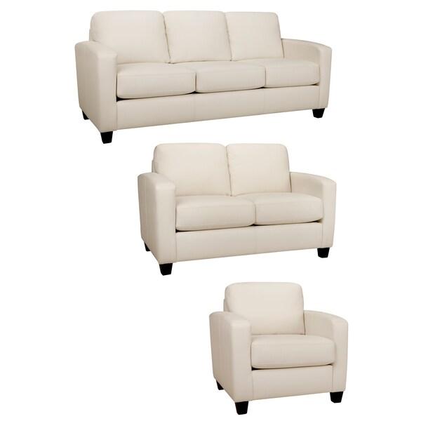 Ashley Furniture Delmar De: Bryce White Italian Leather Sofa, Loveseat And Chair