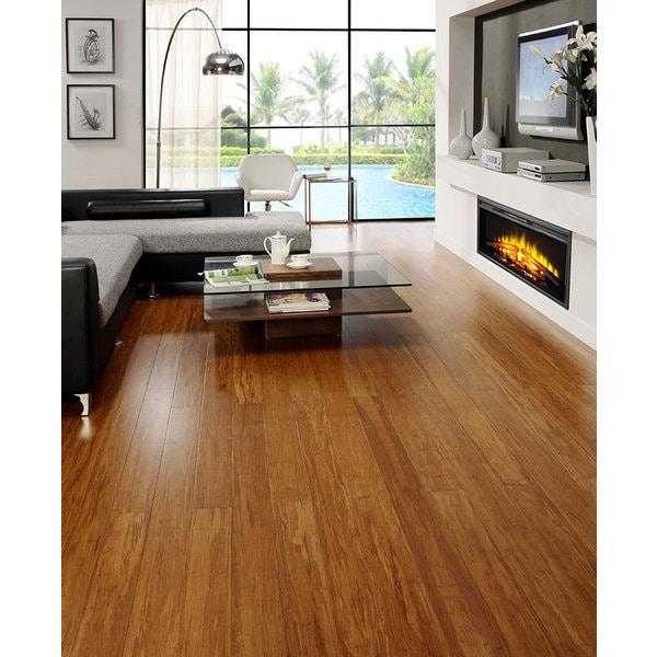 Envi Exotic Bamboo Caramel Strand Woven Ez Click Flooring