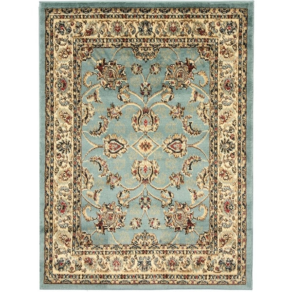 Traditional Persian Oriental Design Blue Area Rug 5 3 X 7