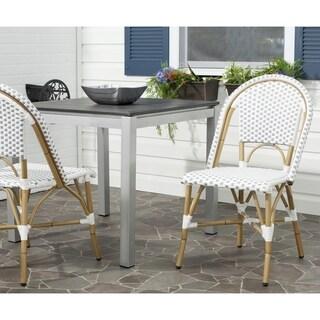 Salcha Grey/ White Indoor Outdoor Stackable Side Chair (Set of 2)