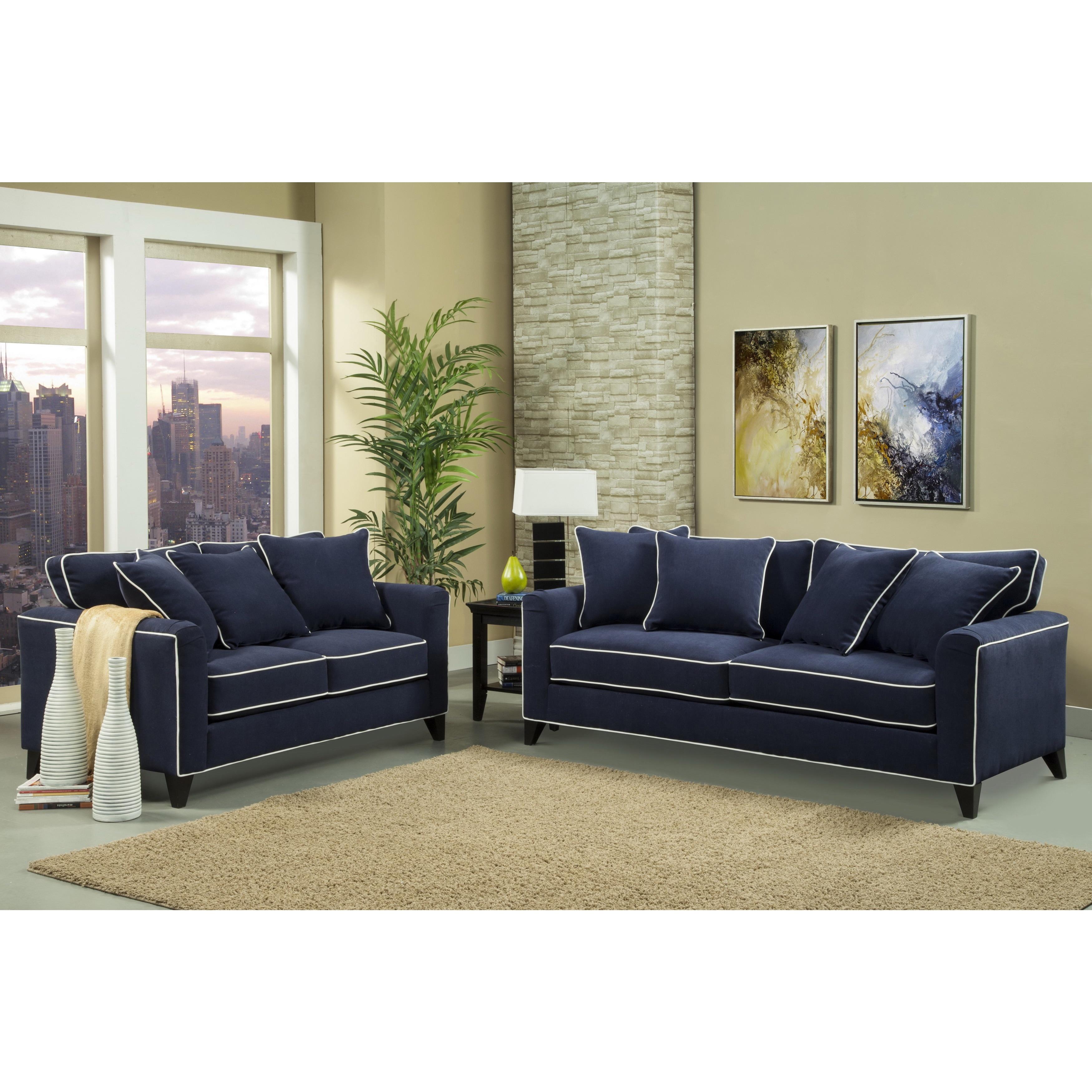 Overstock Furniture: Furniture Of America Alton Contemporary Chenille Sofa