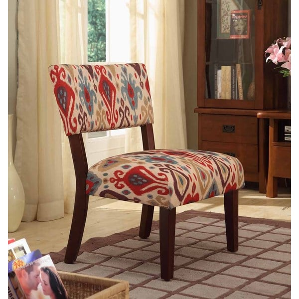Homepop Multicolor Ikat Large Accent Chair 15828104